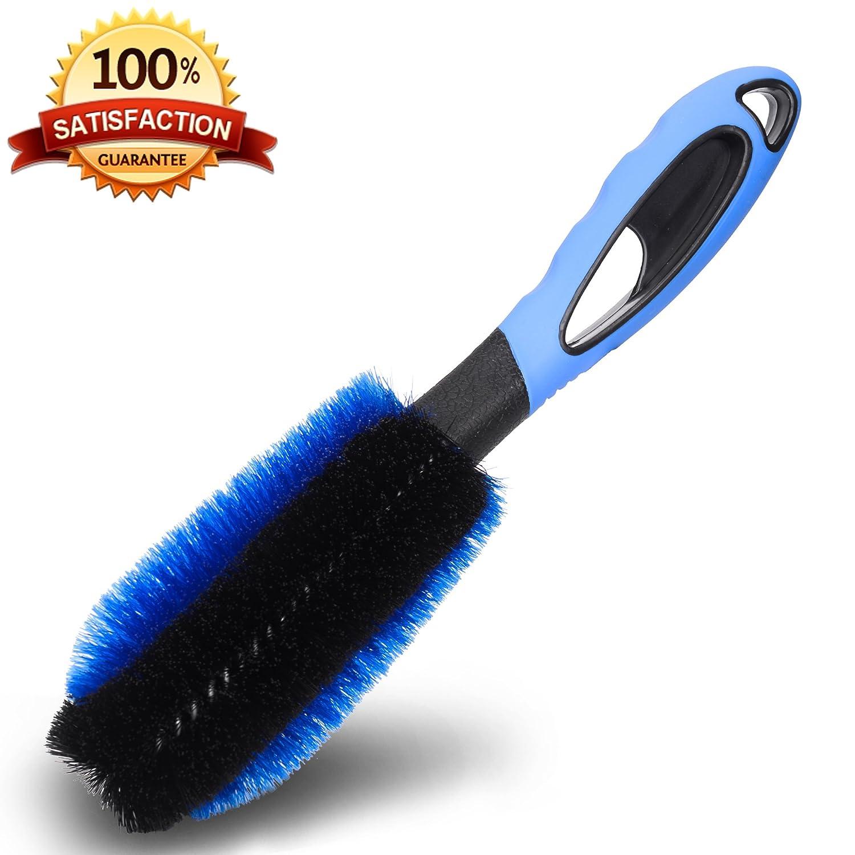 Cepillo de aro profesional para la limpieza profesional y suave de sus aros de acero y aleación - calidad superior con garantía de satisfacción - limpiador ...