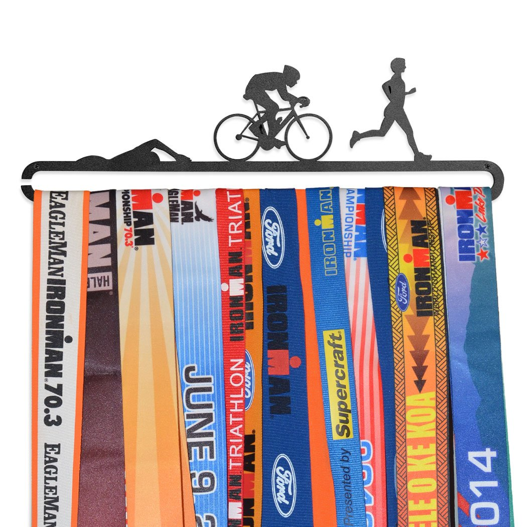 Triathlon Race Medal Hanger