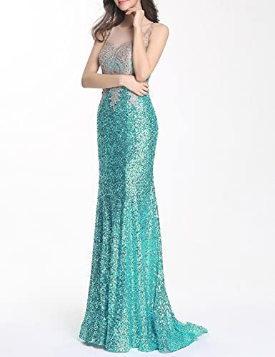 Amazon.com: YSMei Womens Sequins Long Prom Gowns Evening Celebrity Dress Gold Lace YPM284: Clothing