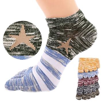 Five Finger Toe Calcetines, 5 pares de los hombres transpirable Casual calcetines deportes calcetines de