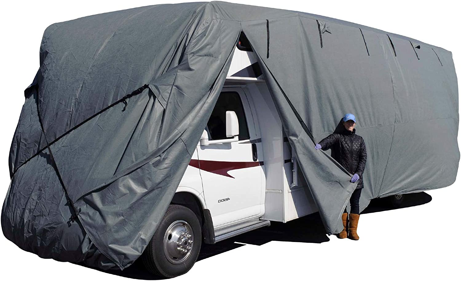 Budge Class C RV Cover Fits Class C RVs up to 30 Long Gray, Polyproplyene