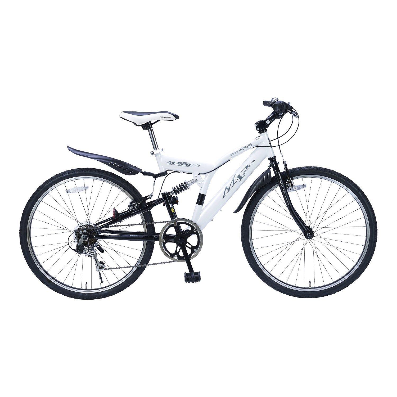My Pallas(マイパラス) クロスバイク 26インチ 6段変速 リアサスM-650type3 B01G1O27MC ホワイト ホワイト