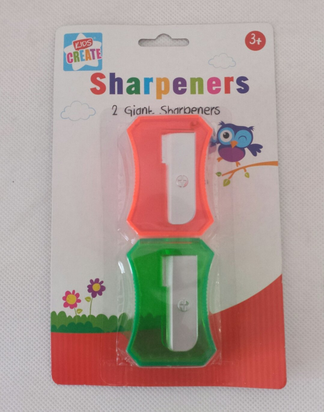 Plastic Pack of 2 Assorted Colour 29.7 x 21 x 2 cm Anker Kids Create//Arts and Crafts Novelty Sharpeners