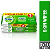 Dettol Original Anti-bacterial Skin Wipes 10 Count 2+1 Free