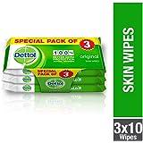 Dettol Original Anti-bacterial Skin Wipes 10 Count 2+1 Free