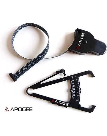 APOGEE Plicometro / adipometro y cinta metrica corporal - Conjunto perfecto para medir la evolución de