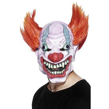 Careta Látex Halloween | Máscara de Payaso Asesino | Mascarilla Bufón Malo | Antifaz Arlequín Malvado