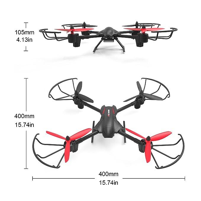 Metakoo D1 Drone con Cámara RC Quadcopter Control remoto ...