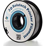 3D Solutech Silver Metal 3D Printer PLA Filament 1.75MM Filament, Dimensional Accuracy +/- 0.03 mm, 2.2 LBS (1.0KG…