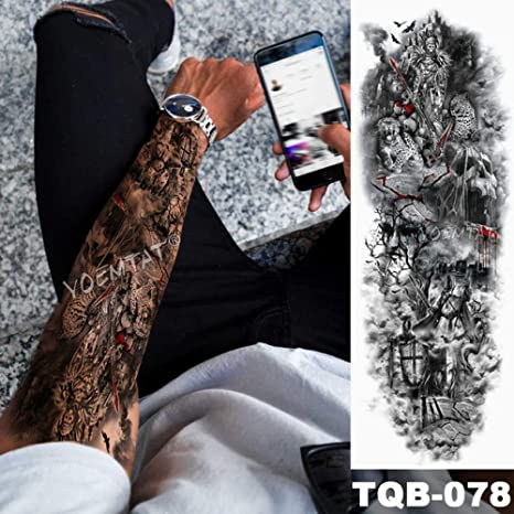 Brazo grande tatuaje manga del ángel ala paloma Jesús impermeable ...