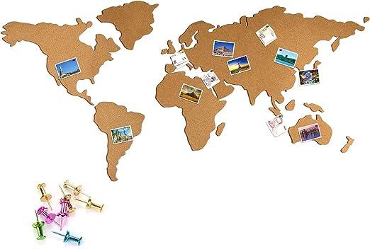 Mapa Mundi Corcho Pared ,JUSTDOLIFE Mapamundi Corcho para Pared ...
