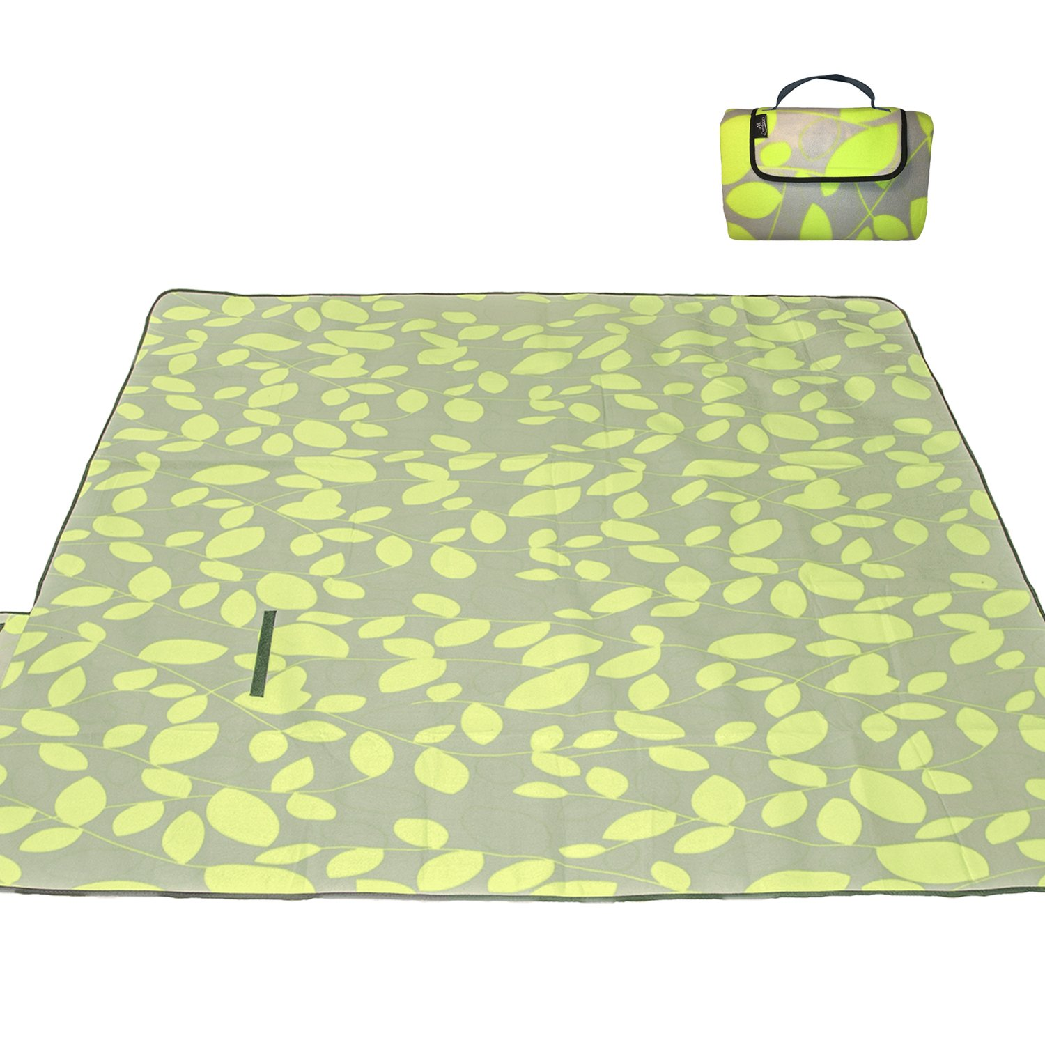 Portable /& Easy to fold Perfect Camping Blanket//Beach Blanket Waterproof with Cozy Polar Fleece Top 80x72 Light Weight XXLarge Premium 3-Layer Most Durable Outdoor Blanket//Picnic Blanket