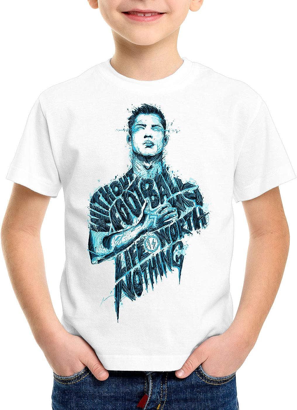 CottonCloud Football is Life Camiseta para Niños T-Shirt españa ...
