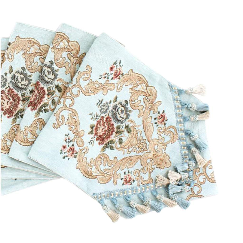 Unbekannt Mode Tischfahne Chenille Blume Karte Einfache Europäische Kaffee Kaffee Kaffee Bett Hochzeit Hotel Bankett Dekoration Multicolor 30 cm  140 cm MUMUJIN (Farbe : Bottle Carved Blau, größe : 210cm) 7fe5cf