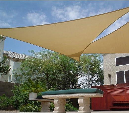 Faura 3, 6 x 3, 6 x 3, 6 Metros - Toldo Vela Triangular Verde 150 gr/m2: Amazon.es: Jardín
