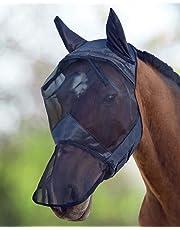 Harrison Howard CareMaster Fliegenmaske UV-Schutz Ohren und Nasenschutz Schwarz