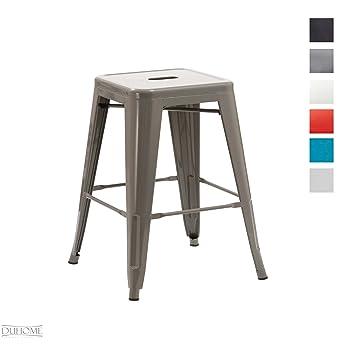 Duhome Tabouret de Bar métal au Design Industry Gris empilable sélection de  Couleurs Chaise en Fer bcf0bb1be61d