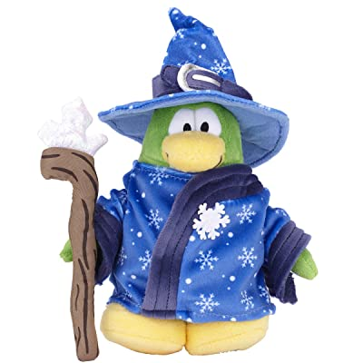"Club Penguin Collector 6.5"" Penguin Plush - Series 9 Blizard Wizard (Replaced By Chaser): Toys & Games"