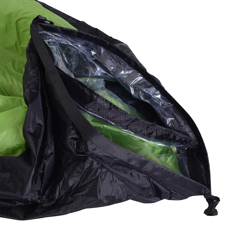 miozzi Air Sofa Lettino Gonfiabile Senza Pompa Verde 185x70x52 cm