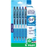 Pilot B2P - Bottle to Pen - Retractable Ball Point Pens Made from Recycled Bottles, 5 Pen Pack, Fine Point, 2 Black/2 Blue/1 Red (32614)