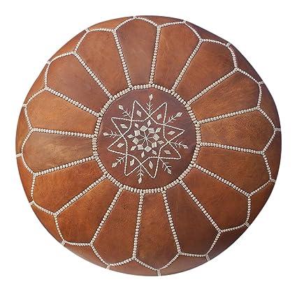 Maison de Marrakech/hermoso color marrón marroquí puf puff Otomano ...