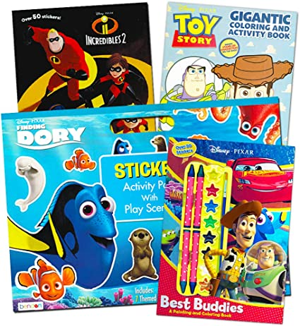 - Amazon.com: Disney Pixar Ultimate Coloring Book Assortment ~ Bundle  Includes 4 Books Featuring Disney Cars, Toy Story, Finding Nemo And More  (Includes Stickers): Toys & Games
