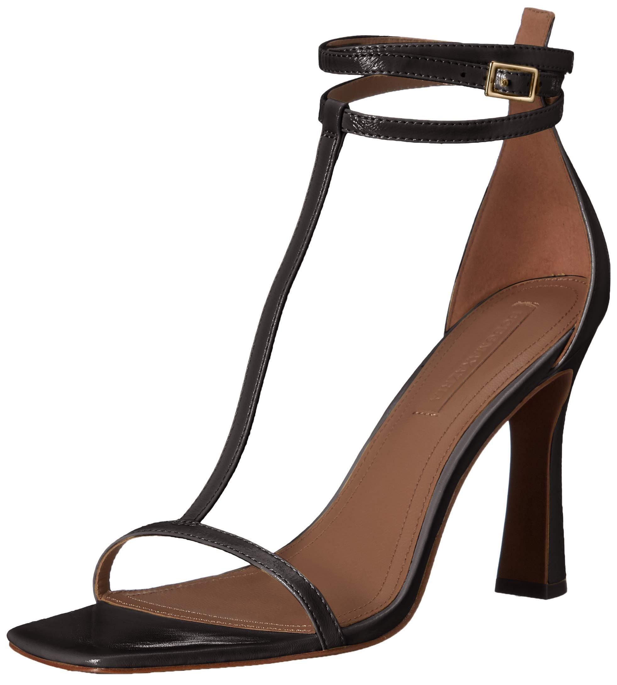 BCBGMAXAZRIA Women's Ina T-Strap Dress Sandal Sandal, Black, 6.5 M US by BCBGMAXAZRIA