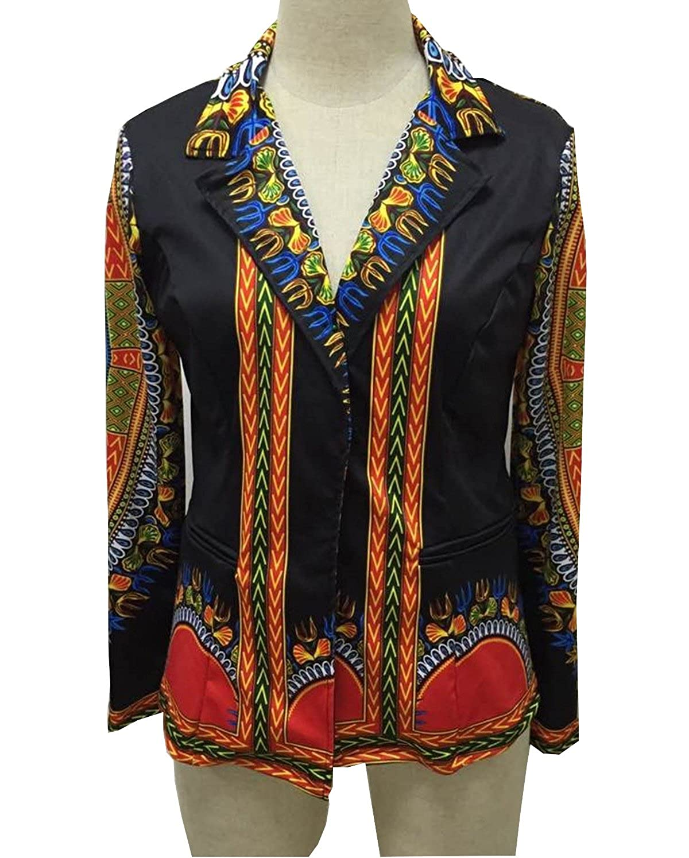 GladThink Mujer Africano Dashiki Caftán Cultural Traje Tops ...