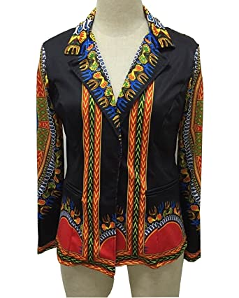 GladThink Mujer Africano Dashiki Caftán Cultural Traje Tops Negro ...