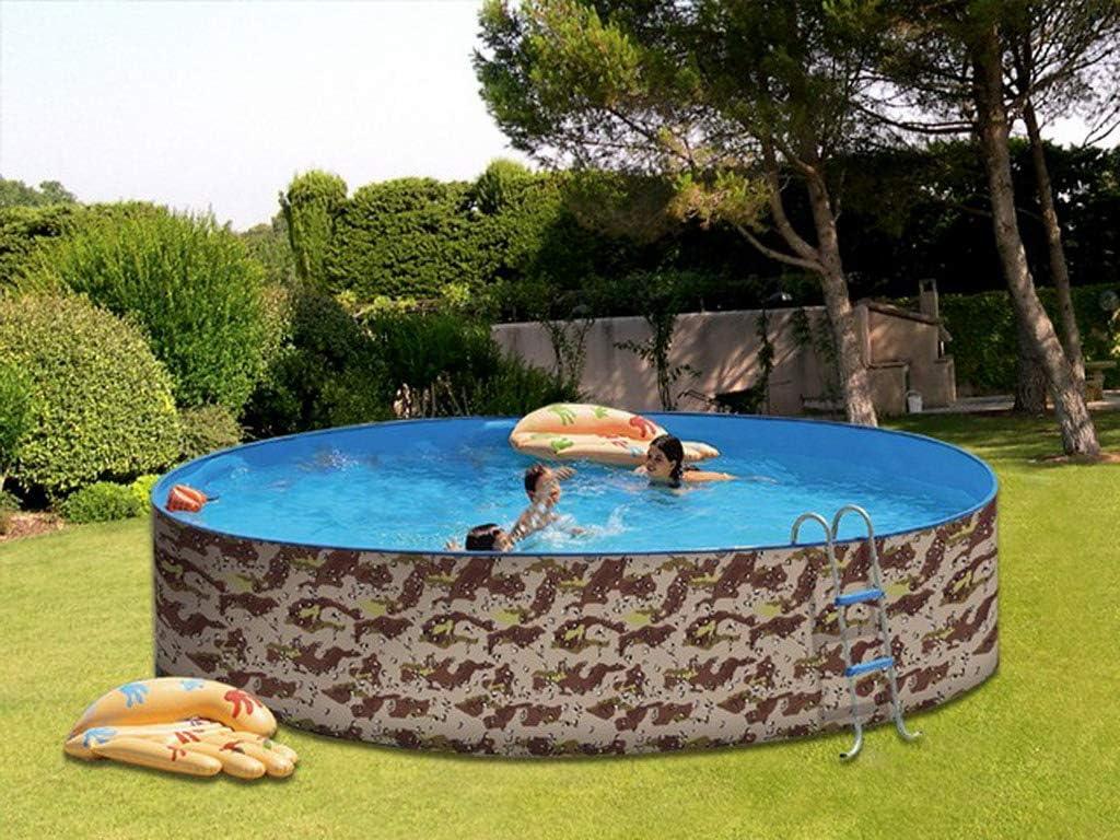 TOI - Piscina desmontable redonda decorada modelo camuflaje ...