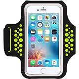 HAISSKY Fascia da Braccio Sportiva Universale con Cinturino Regolabile per Smartphone meno di 5.8 pollici come per iPhone 8 Plus /7Plus /6 Plus/ 6s Plus Samsung Galaxy S5 S6 S7 Edge Note 5, Note 8