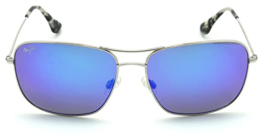 868af1f9965 Maui Jim B773-17 BREEZEWAY Polarized Titanium Sunglasses Blue Hawaii   Amazon.co.uk  Clothing