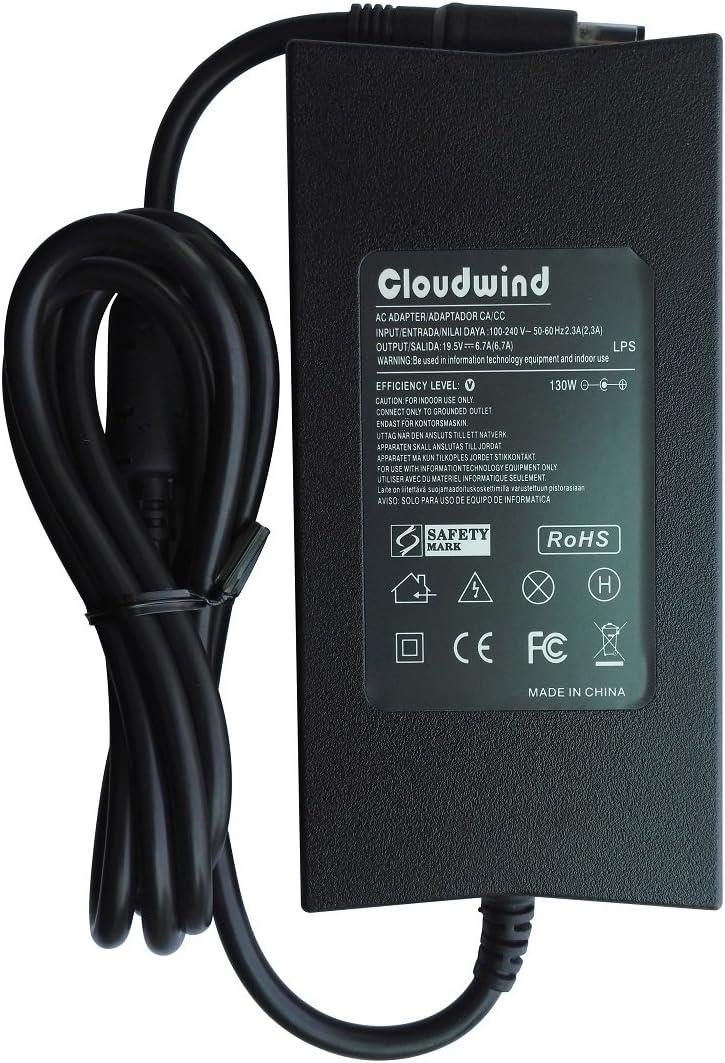 Cloudwind 19.5V 6.7A 130W AC Adapter Charger for Dell Precision M20 M60 M70 M90 M2400 Dell Vostro 500 1000 Dell XPS M1210 M1330 Dell Studio 1535 1536 16 Lapotp. CompatibleP/N:FA130PE1-00, DA130PE1-00.