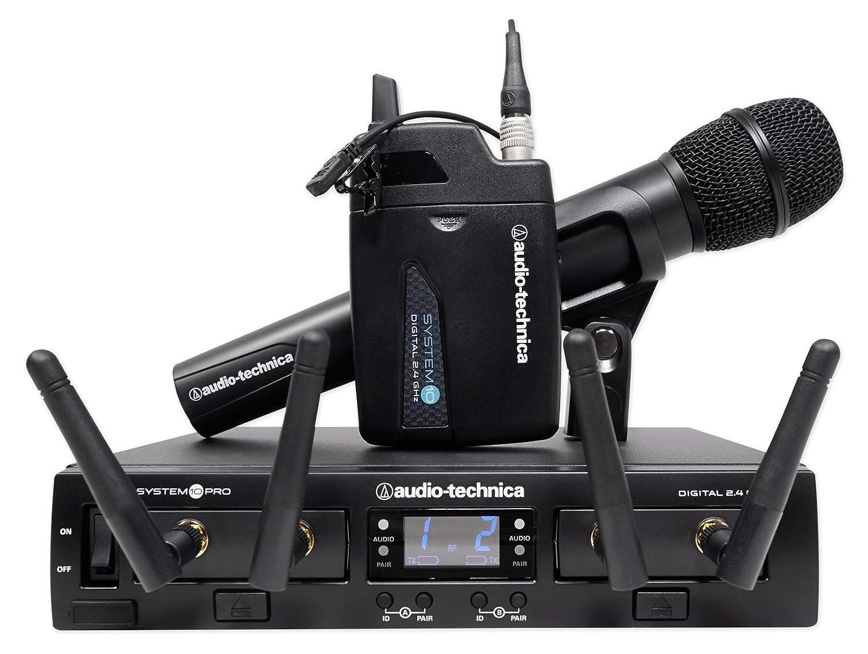 Audio Technica ATW-1312/L System 10 PRO - Auriculares inalámbricos con micrófono y altavoces: Amazon.es: Instrumentos musicales