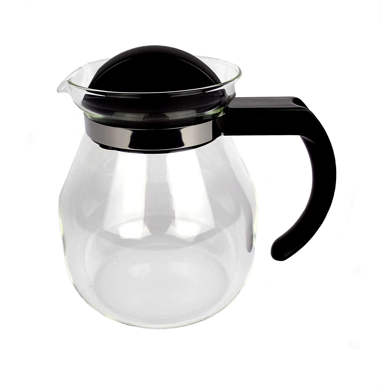 1 Litre Glass Coffee Jug For Filter Paper Dripper Cones - by EDESIA ESPRESS