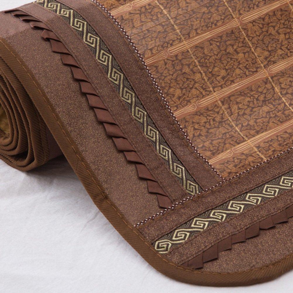 WENZHE Bambus Matratzen Sommer-Schlafmatten Strohmatte Teppiche Falten Zuhause Multifunktion, Doppelseitige Verwendung, Mit Kissenbezügen, 4 Stile, 1,5/1,8 M (Farbe : C, größe : 1.5×1.95m)