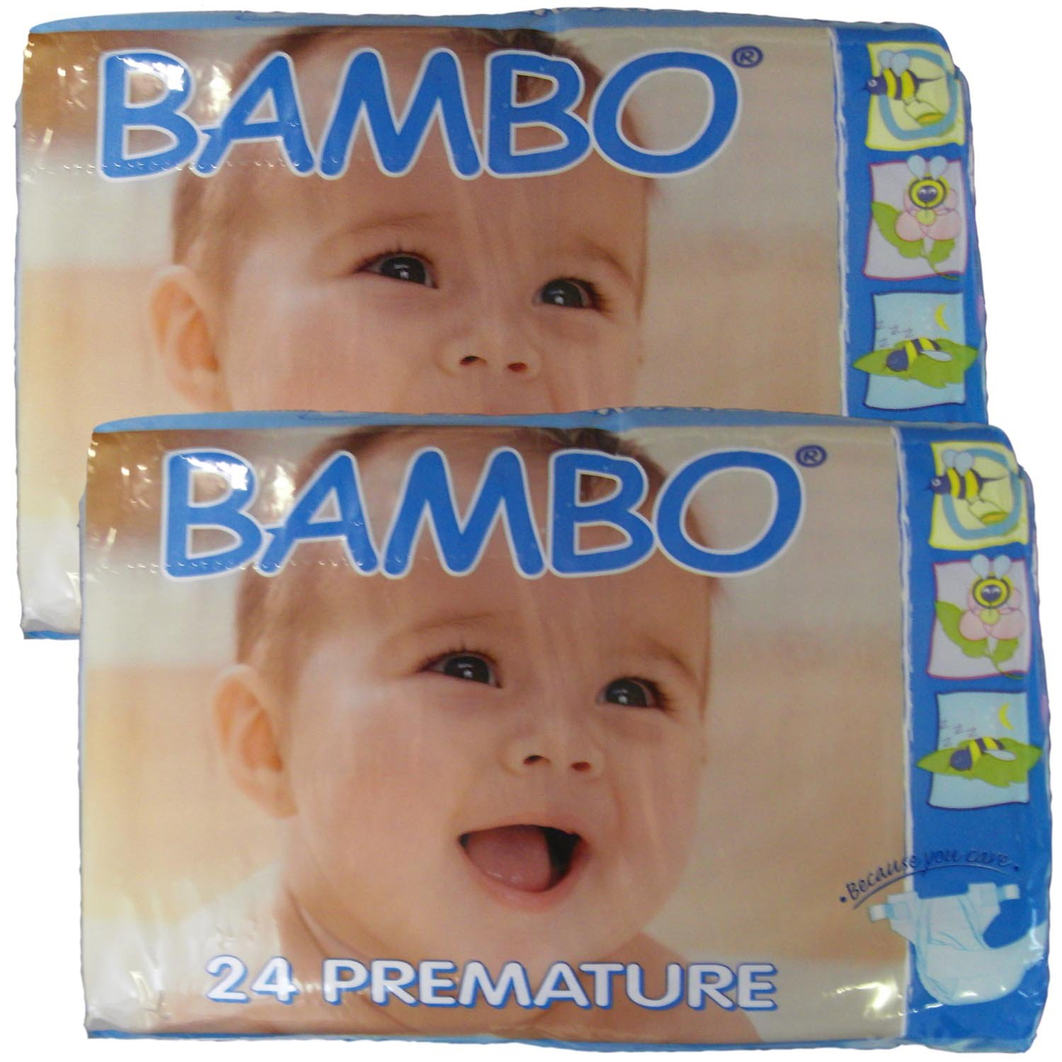 Bambo Nature Nappies Twin Pack - Newborn (Size 1) Abena