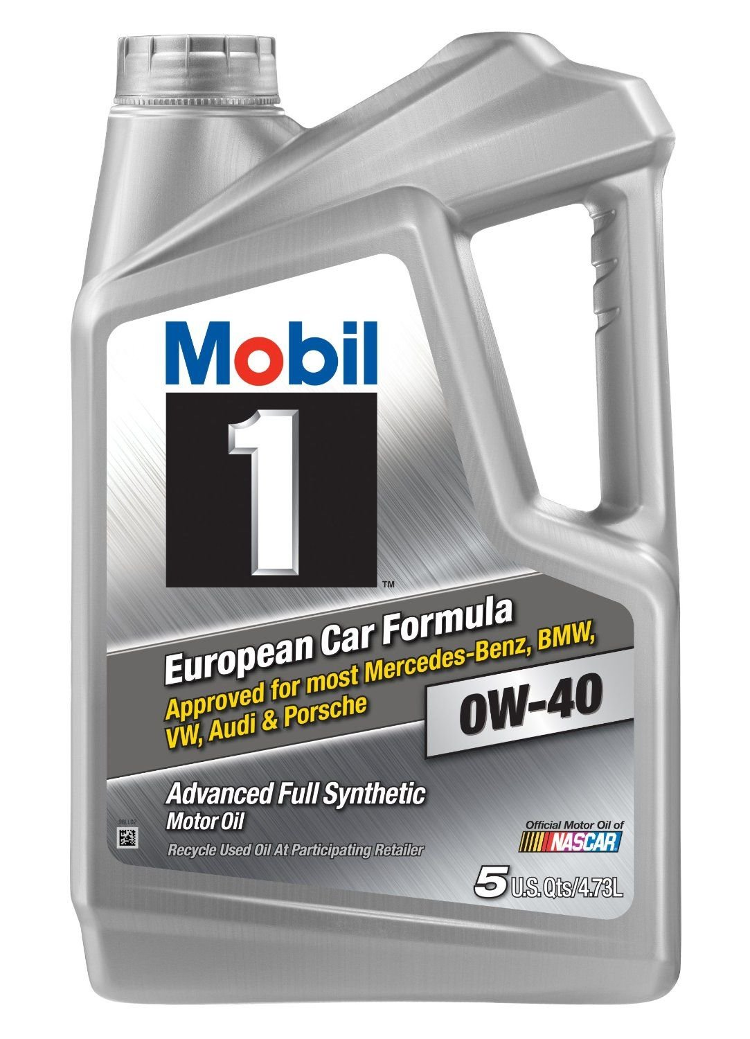 Mobil 1 (120760) 0W-40 Motor Oil, 5 Quart, Pack of 3 by Mobil 1