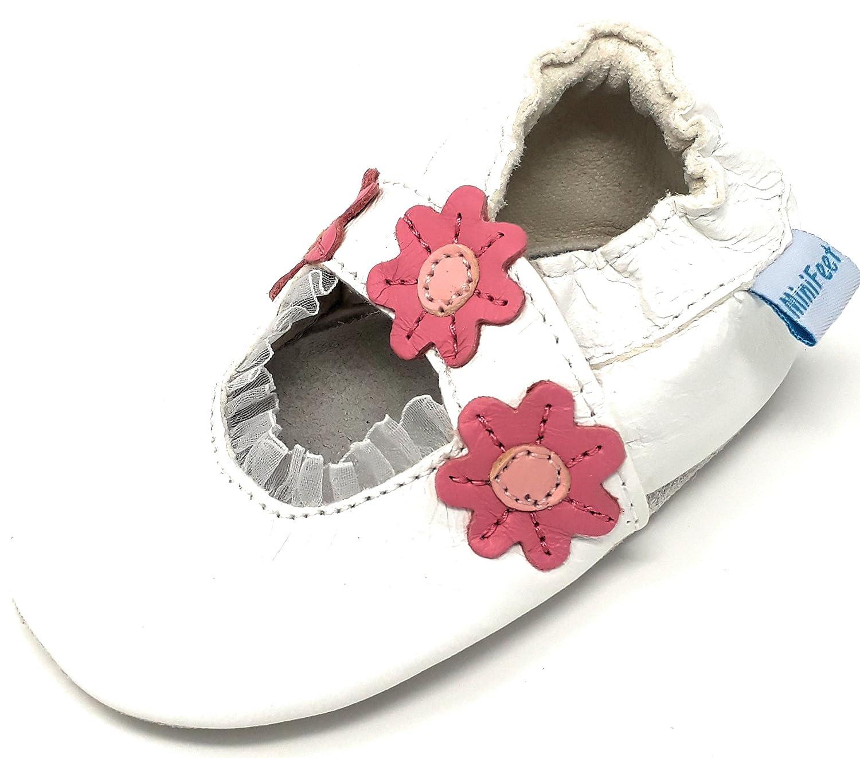 MiniFeet Chaussures bébé en cuir souple, Sandales Bébé 0-6, 6-12, 12-18 &...
