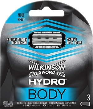 Wilkinson Sword Hydro BODY - Recambio de Cuchillas para Afeitadora ...