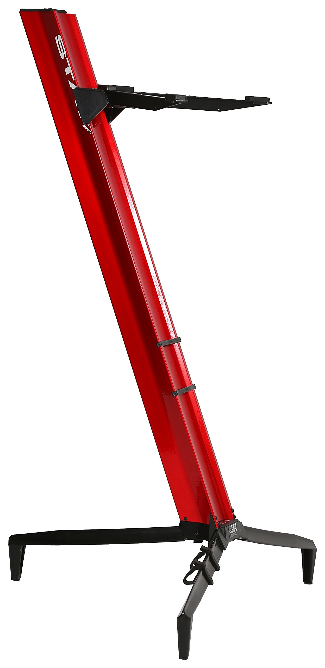 Tower Series 46 Single-Tier Keyboard Stand Red (TOWER 1300-01-RED)