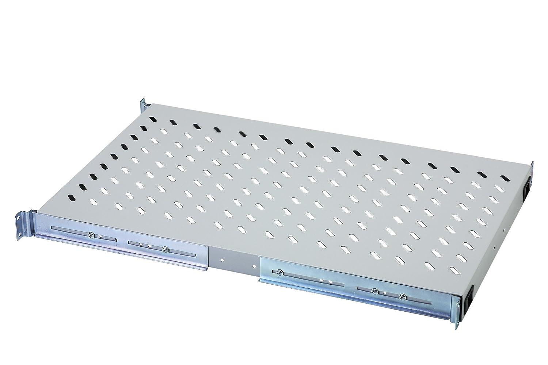 DIGITUS Professional Accesorio delantero y trasero - DN-97647 19 color negro desde 800 mm profundidad carga 50 kg Baldas con carriles de fijaci/ón variables para la fijaci/ón en armarios de 483 mm 1 unidades de altura