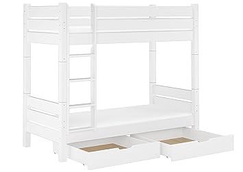 Erst-Holz Cama Castillo también para Adultos 90 x 200 Divisible con colchones, cajones 60.16 - 09 W T100 M S2: Amazon.es: Hogar