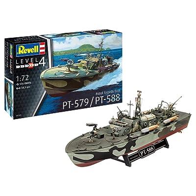 Revell RV05165 1:72 - Patrol Torpedo Boat PT-588/PT-57 Plastic Model kit: Toys & Games