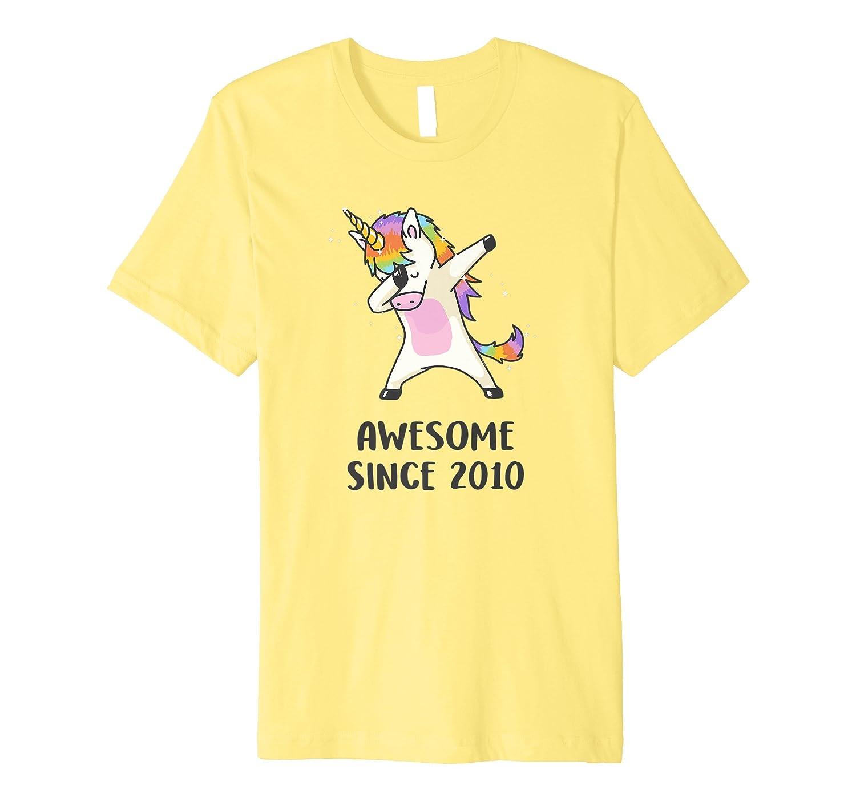 1b2a0ca7 Dabbing Unicorn Shirt Awesome Since 2010 8th Birthday TShirt-Rose ...
