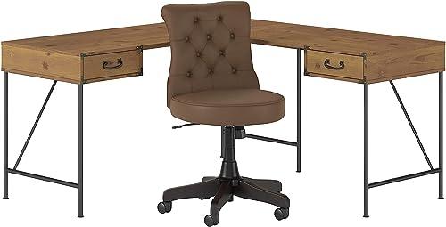 Bush Furniture kathy ireland Home Ironworks L Shaped Writing Desk