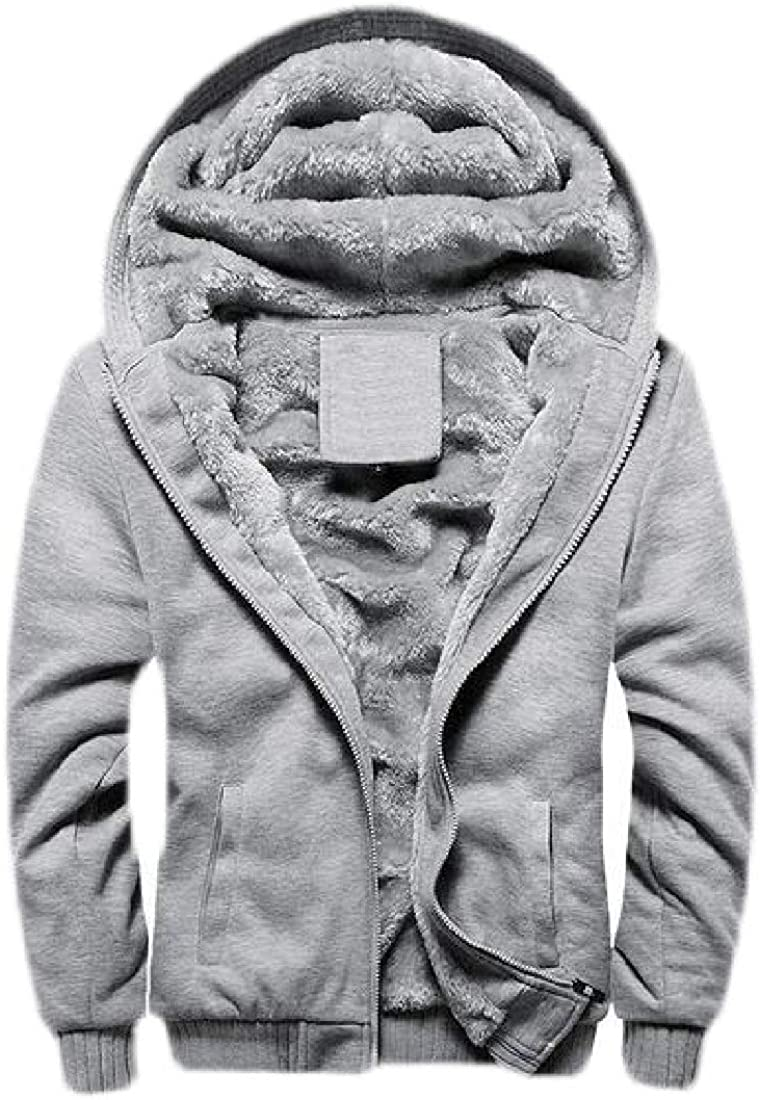Etecredpow Mens Winter Baseball Hoodies Jacket Long-Sleeve Sweatshirts