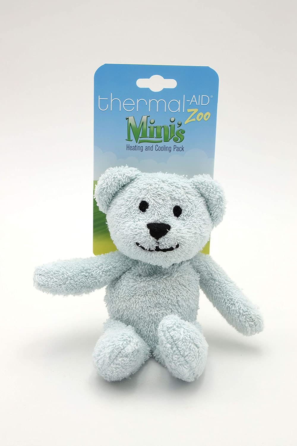 Thermal-Aid 100% Natural Heating and Cooling Packs for Kids (Mini Blue Bear Zoo Animal - Buckley)