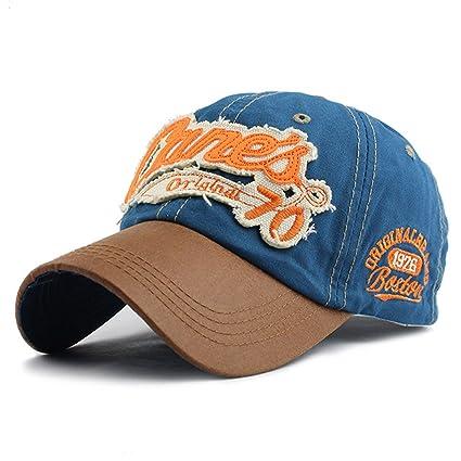 Amazon.com: 2018 snapback cap demin baseball cap Fashion Sports cotton casquette bone gorras Casual hat for men women cap (Blue Color): Everything Else
