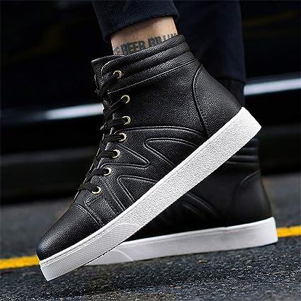 07cd2e0b Zapatos de hombre Zapatos atléticos Zapatos de plataforma de la PU de la  academia de otoño e invierno Botas altas Zapatillas de deporte Zapatillas  de ...